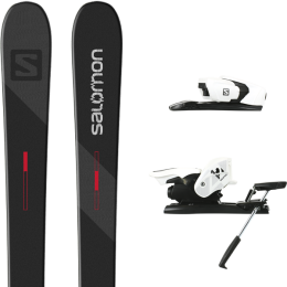 SALOMON TNT BLACK/GREY/RED 21 + SALOMON Z12 B90 WHITE/BLACK 21
