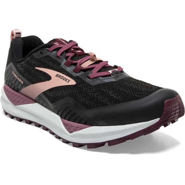 BROOKS Chaussure trail Cascadia 15 W Black/ebony/coral Cloud Femme Noir/Rouge taille 8.5
