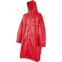 CAMP PONCHO RAIN STOP CAGOULE FRONT ZIP RED 21