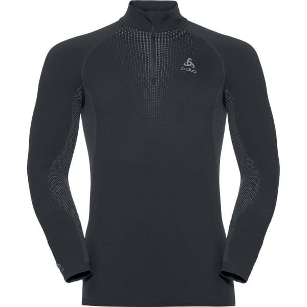 Odlo Mens Performance Warm Eco Long-Sleeve Baselayer Top Black Sports Running