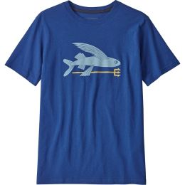 PATAGONIA BOYS' GRAPHIC ORGANIC T-SHIRT FLYING FISH:SUPERIOR BLUE 20