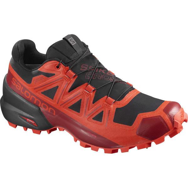 SALOMON Chaussure trail Spikecross 5 Gore-tex Bk/rd/rd Dahlia Homme Rouge/Noir taille 3.5