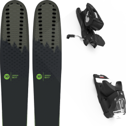 Pack ski alpin ROSSIGNOL ROSSIGNOL SKY 7 HD 20 + LOOK NX 12 GW B100 BLACK 21 - Ekosport