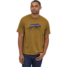 PATAGONIA M'S BACK FOR GOOD ORGANIC TSHIRT MULCH BROWN WOLF 21