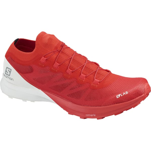 SALOMON Chaussure trail S/lab Sense 8 Racing Red/white/wh Homme Rouge/Blanc taille 8.5