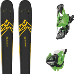 Boutique SALOMON SALOMON QST 92 DARK BLUE/YELLOW 20 + TYROLIA ATTACK² 13 GW BRAKE 95 [A] GREEN 19 - Ekosport