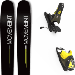 Pack ski alpin MOVEMENT MOVEMENT GO 109 19 + LOOK SPX 12 GW B100 KAKI/YELLOW 20 - Ekosport