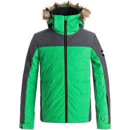 QUIKSILVER THE EDGE YOU JKT BOY KELLY GREEN 18