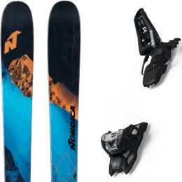 NORDICA ENFORCER 104 FREE 21 + MARKER SQUIRE 11 ID BLACK 21