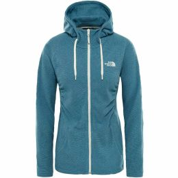 THE NORTH FACE W MEZZALUNA FULL ZIP HDE STORM BLUE STRIPE 19