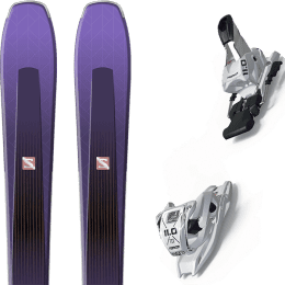 Pack ski alpin SALOMON SALOMON AIRA 84 TI PURPLE/BLACK 20 + MARKER 11.0 TP WHITE 21 - Ekosport