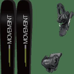 Pack ski alpin MOVEMENT MOVEMENT GO 109 19 + TYROLIA ATTACK² 11 GW W/O BRAKE [L] SOLID BLACK 20 - Ekosport