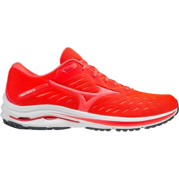 MIZUNO Chaussure running Wave Rider 24 Ignition Red/fiery Coral Homme Orange taille 6.5