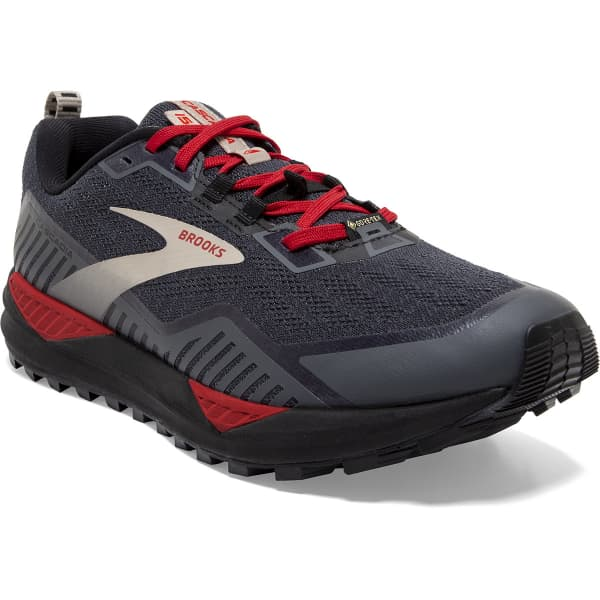 BROOKS Chaussure trail Cascadia 15 Gore-tex Black/ebony/red Homme Gris/Rouge taille 8.5