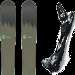 Pack ski alpin ROSSIGNOL ROSSIGNOL SMASH 7 20 + MARKER F10 TOUR BLACK/WHITE 20 - Ekosport