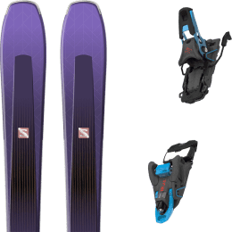 Pack ski alpin SALOMON SALOMON AIRA 84 TI PURPLE/BLACK 20 + SALOMON S/LAB SHIFT MNC 13 N BLACK/BLUE SH90 22 - Ekosport