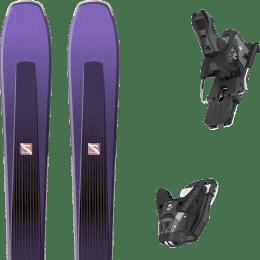 Pack ski alpin SALOMON SALOMON AIRA 84 TI PURPLE/BLACK 20 + SALOMON STH2 WTR 13 N BLACK/GREY 22 - Ekosport