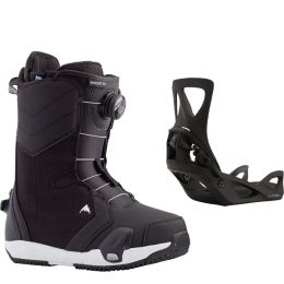 BURTON LIMELIGHT STEP ON W BLACK 21 + BURTON STEP ON WOMENS BLACK 21