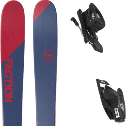 Pack ski alpin FACTION FACTION CANDIDE 0.5 19 + LOOK NX JR 7 GW B83 BLACK 21 - Ekosport