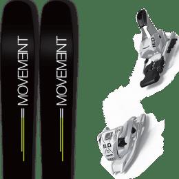 Pack ski+fix MOVEMENT MOVEMENT GO 109 19 + MARKER 11.0 TP WHITE 21 - Ekosport