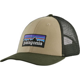 PATAGONIA P-6 LOGO LOPRO TRUCKER HAT EL CAP KHAKI 21