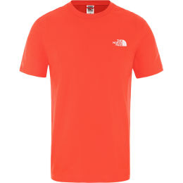 THE NORTH FACE M S/S SIMPLE DOME TE FIERY RED 20