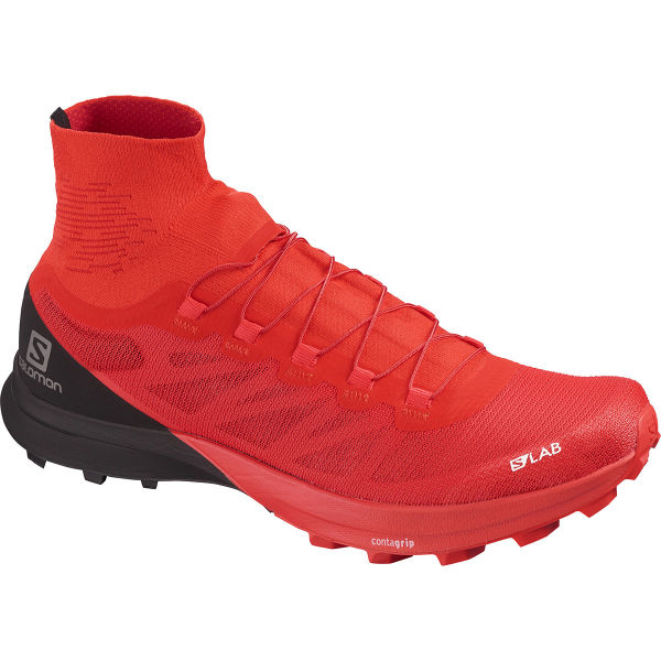 SALOMON Chaussure trail S/lab Sense 8 Sg Racing Red/bk/wh Homme Rouge/Noir taille \