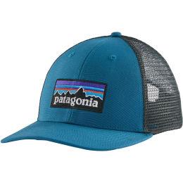 PATAGONIA P-6 LOGO LOPRO TRUCKER HAT STELLER BLUE 21