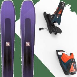 Pack ski alpin SALOMON SALOMON AIRA 84 TI PURPLE/BLACK 20 + LOOK SPX 12 GW B120 PETROL/ORANGE 20 - Ekosport