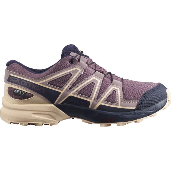 SALOMON Chaussure trail Speedcross Cswp J Flint/evening Blue/bellini Enfant Violet/Rose taille 33