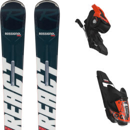 ROSSIGNOL REACT 6 COMPACT + XPRESS 11 GW B83 BLACK HOT RED 21
