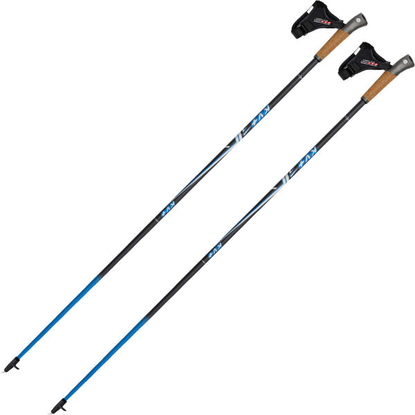 KV+ Bâton de marche nordique Mistral Clip Noir Bleu Noir/Bleu 105