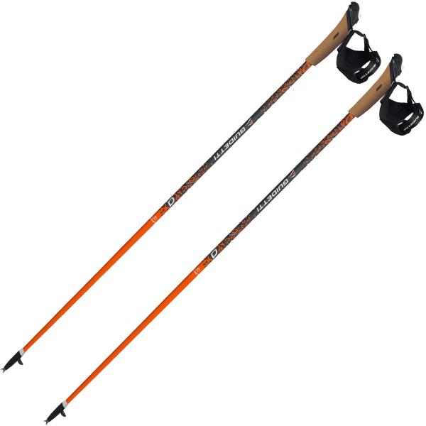 GUIDETTI Bâton de marche nordique Vent Des Fjords Ut50 Orange Noir/Orange 120