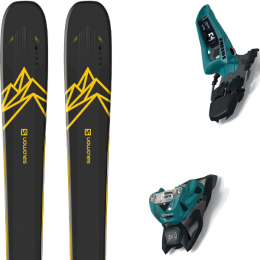 Collection SALOMON SALOMON QST 92 DARK BLUE/YELLOW 20 + MARKER SQUIRE 11 ID TEAL/BLACK 20 - Ekosport