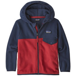 PATAGONIA BABY MICRO D SNAPT JKT FIRE W/NEO NAVY 21