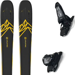 Boutique SALOMON SALOMON QST 92 DARK BLUE/YELLOW 20 + MARKER GRIFFON 13 ID BLACK 21 - Ekosport