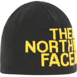 THE NORTH FACE REVERSIBLE TNF BANNER BEANIE TNF BLACK/SUMMIT GOLD 21