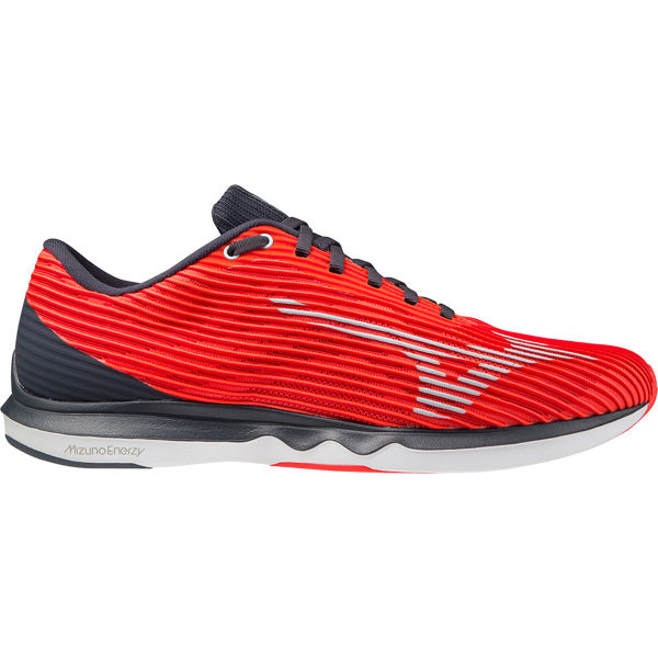 MIZUNO Chaussure running Wave Shadow 4 Ignition Red / Wan Blue / India Ink Homme Rouge taille 6.5
