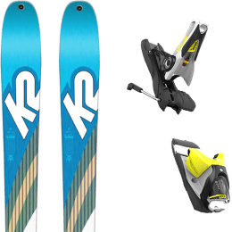 Ski randonnée K2 K2 TALKBACK 88 SMU 22 + LOOK SPX 12 DUAL B120 CONCRETE YELLOW 19 - Ekosport