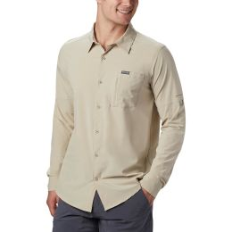 COLUMBIA TRIPLE CANYON LS SHIRT SOLID FOSSIL 20