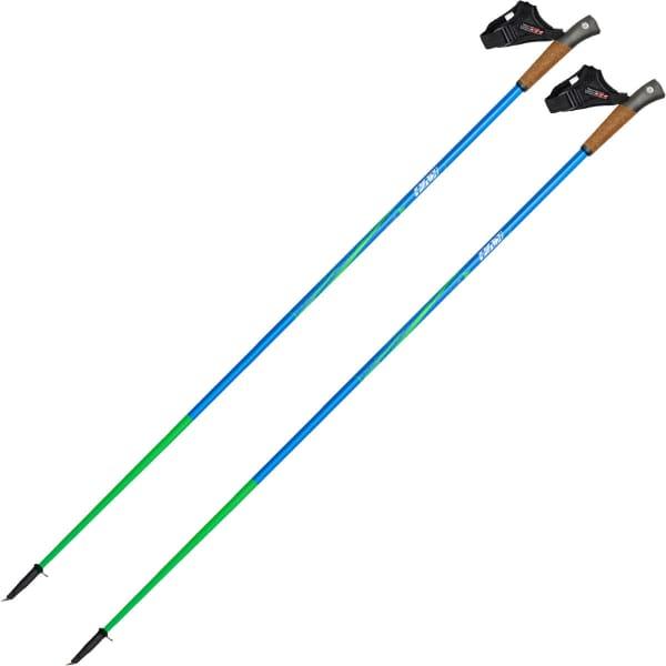 KV+ Bâton de marche nordique Prestige Clip Bleu Vert Bleu/Vert 100