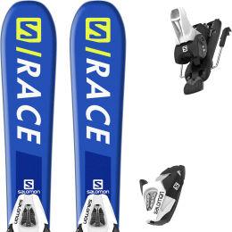 SALOMON S/RACE JR XS + C5 GW BLACK/WHITE J75 20
