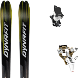 DYNAFIT MEZZALAMA BLACK/YELLOW 21 + DYNAFIT SPEED TURN 2.0 BRONZE/BLACK 21