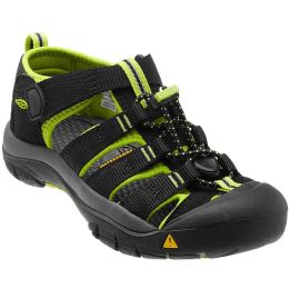KEEN NEWPORT H2 YOUTH BLACK/LIME GREEN 21