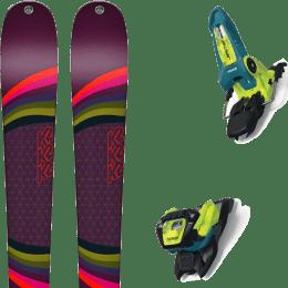 Pack ski alpin K2 K2 MISSCONDUCT + MARKER JESTER 18 PRO ID TEAL/FLO-YELLOW - Ekosport