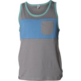 SNAP TWO-COLORED POCKET TANK TOP DARK GREY 21