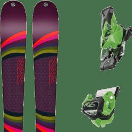 Pack ski alpin K2 K2 MISSCONDUCT 19 + TYROLIA ATTACK² 13 GW BRAKE 95 [A] GREEN 19 - Ekosport