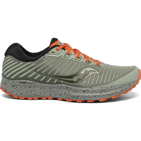 SAUCONY Chaussure trail Guide 13 Tr Desert/orange Homme Vert/Orange taille 7.5