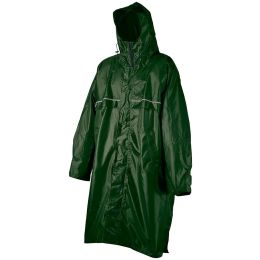 CAMP PONCHO RAIN STOP CAGOULE FRONT ZIP ARMY GREEN 21