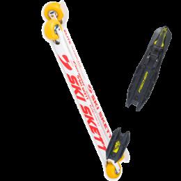 SKI SKETT ELITE CLASSIC PV 21 + FISCHER ROLLERSKI CLASSIC BLACK YELLOW 21